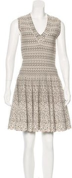 Alaia Abstract Patterned Fit and Flare Dress