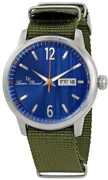 Lucien Piccard Milanese Blue Dial Men's Textile Watch