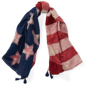 Polo Ralph Lauren | Patchwork Cotton Scarf | Navy americana