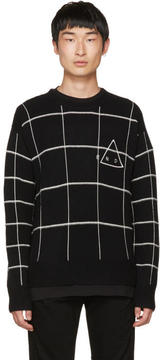 McQ Black End Grid Sweater