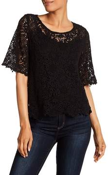 Velvet by Graham & Spencer Colleen Lace Crew Neck Shirt