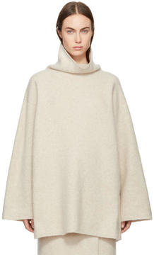 LAUREN MANOOGIAN Beige Cashmere Turtleneck