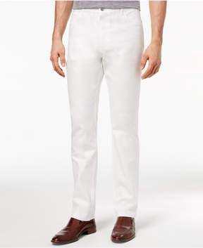 Ryan Seacrest Distinction Men's Slim-Fit Stretch White Denim Five Pocket Pants, Created for Macy's