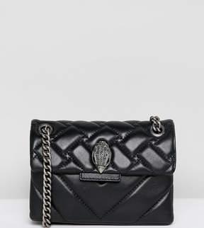 Kurt Geiger London Mini Kensington black leather cross body bag with chain