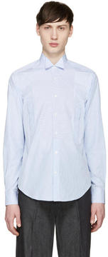 Loewe Blue and White Striped Shirt