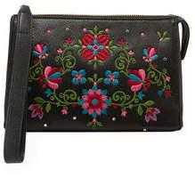Neiman Marcus Flora Wristlet Pouch Clutch Bag