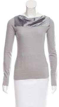 Emporio Armani Silk-Paneled Angora Sweater