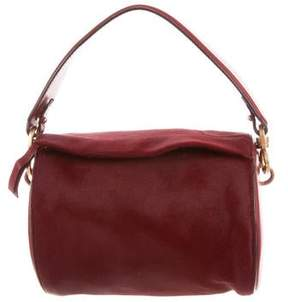 Oscar de la Renta Ponyhair Leather Crossbody
