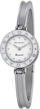 Bvlgari B.Zero1 White Dial Stainless Steel Ladies Watch