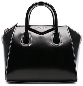 Givenchy Small Smooth Shiny Leather Antigona with White Details