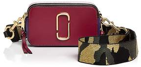 Marc Jacobs Snapshot Camo Strap Color Block Leather Camera Bag - BERRY MULTI/GOLD - STYLE