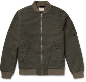 Nudie Jeans Alexander Organic Cotton-Canvas Bomber Jacket
