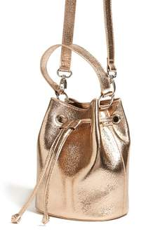 Forever 21 Mini Metallic Bucket Bag