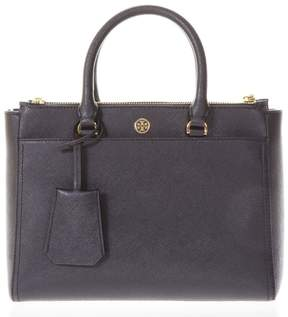 Tory Burch Robinson Black Leather Tote Bag - BLACK - STYLE