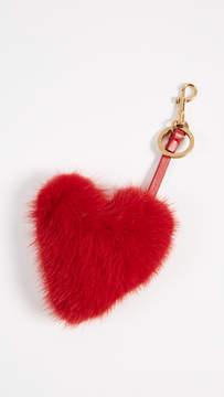 Anya Hindmarch Tassel Heart Keychain
