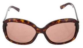 Salvatore Ferragamo Tortoiseshell Gancini Sunglasses
