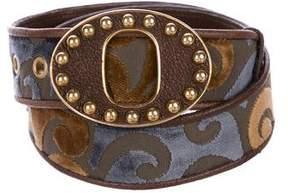 Miu Miu Devoré Waist Belt