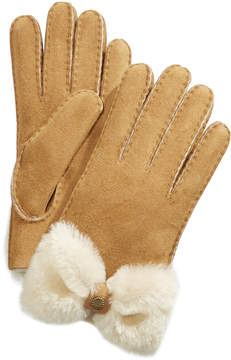 UGG Shearling & Suede Bow Gloves