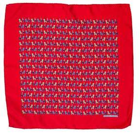 Hermes Silk Horse Print Pocket Square