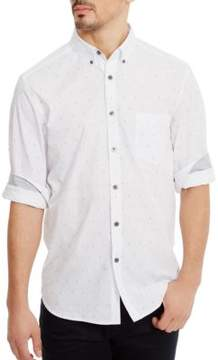 Kenneth Cole Printed Button-Down Shirt