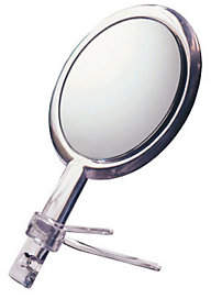 Floxite 10X/1X Two-Sided Handheld Mirror with Stand