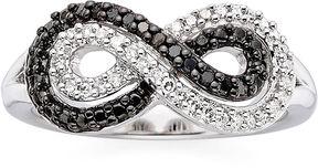 Black Diamond FINE JEWELRY 1/5 CT. T.W. White & Color-Enhanced Infinity Ring