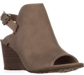 Esprit Angie Peep-toe Wedge Bootie Sandals, Light Taupe.