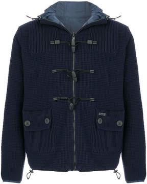 Bark reversible knitted jacket