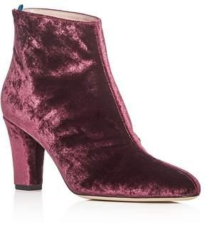 Sarah Jessica Parker Minnie Velvet High Heel Booties - 100% Exclusive
