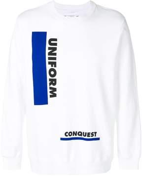 Sacai uniform conquest sweatshirt
