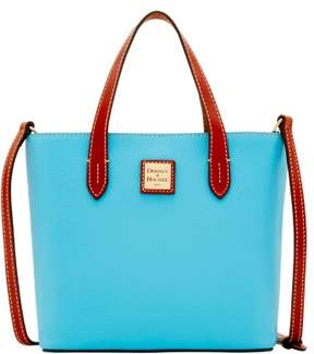 Dooney & Bourke Pebble Grain Mini Waverly Top Handle Bag - LIGHT BLUE - STYLE