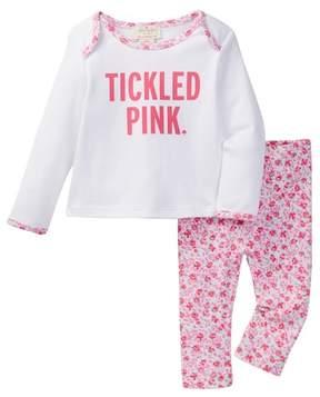 Kate Spade Tickled Pink Top & Legging Set (Baby Girls)
