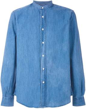 Aspesi mandarin neck denim shirt