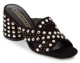Marc Jacobs Aurora Leather Studded Crisscross Sandals