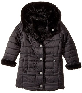 Karl Lagerfeld Reversible Nylon Coat with Faux Fur On The Other Girl's Coat