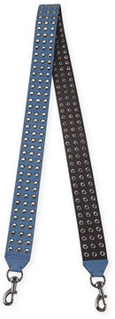 Rebecca Minkoff Flat Studded Leather Guitar Strap - AZURE - STYLE