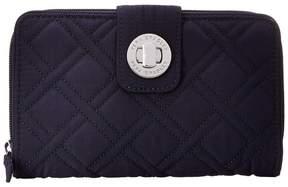 Vera Bradley Turn Lock Wallet Clutch Handbags - BLACK - STYLE