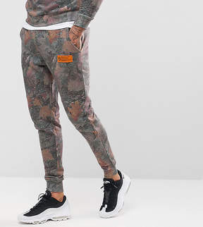 Hype Skinny Joggers In Wood Camo