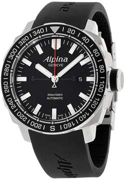 Alpina Adventure AL525LB4V6 Black Dial Silicone Strap 44mm Mens Watch