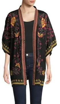 Context Embroidered Floral Cardigan