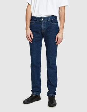 Maison Margiela Stonewash Slim Fit Jeans in Middle Tone Indigo
