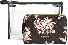 Calvin Klein 2-Pc. Cosmetic Bag Set