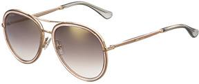 Safilo USA Jimmy Choo Tora Aviator Sunglasses