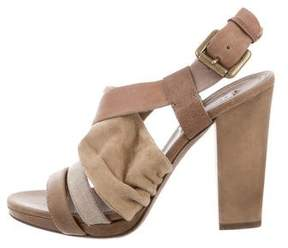 Brunello Cucinelli Leather Multistrap Sandals