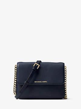 Michael Kors Bedford Leather Crossbody - BLUE - STYLE