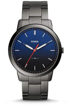 Fossil The Minimalist Slim Three-Hand Smoke Stainless Steel Watch