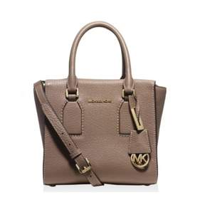MICHAEL Michael Kors Womens Selby Leather Signature Satchel Handbag - DARK DUNE - STYLE