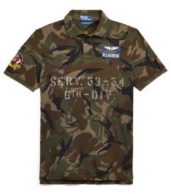 Ralph Lauren The Military Polo Shirt Vintage Elmwood Camo Xs