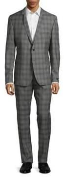 Strellson Slim Shadow Plaid Suit