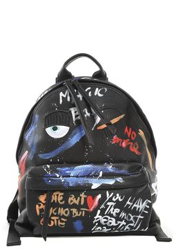 Chiara Ferragni Flirting Painting Faux-leather Backpack